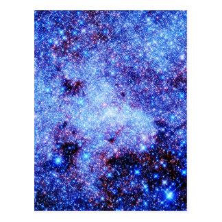 Blue Sparkle Stars Postcard