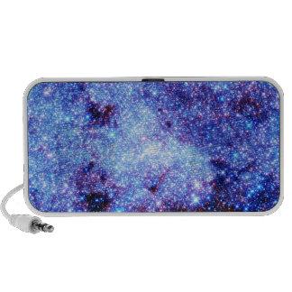 Blue Sparkle Stars iPod Speakers