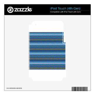 BLUE Sparkle Stripes Pattern Elegant GIFTS Xmas iPod Touch 4G Skins