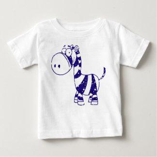 Blue Sparkle Zebra Baby T-Shirt