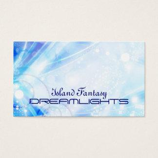 blue sparkles business card