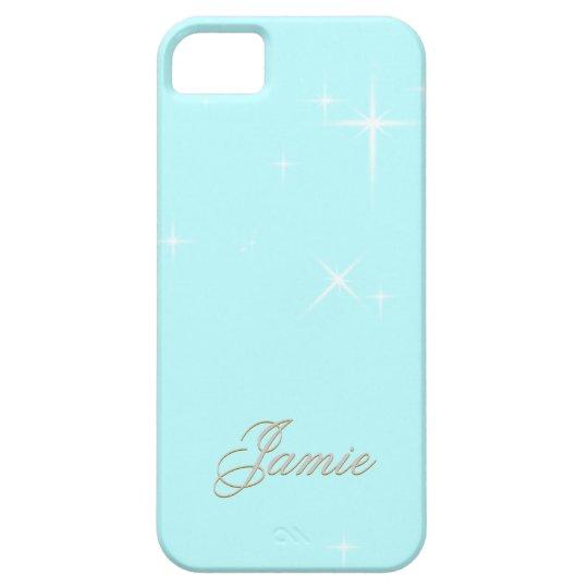 blue sparkles customize iPhone SE/5/5s case