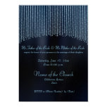 Blue Sparkling Chain modern Wedding invitations