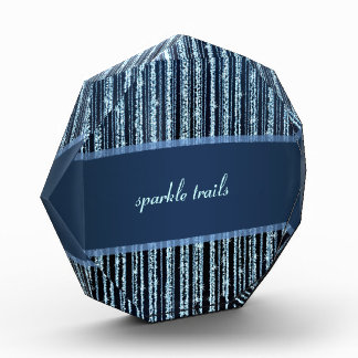 Blue sparkling  Stripes Acrylic Award