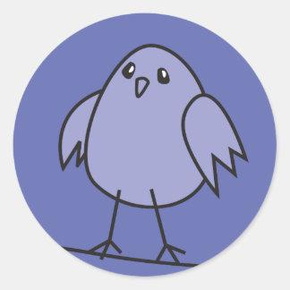 blue sparrow classic round sticker