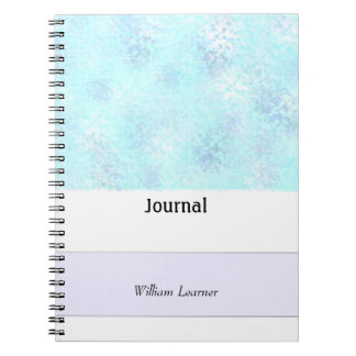 Blue Spatter Personal Journal