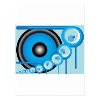 Blue Speaker Postcard
