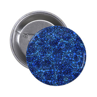 Blue Speckled Abstract Pinback Button
