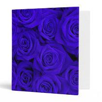 Blue Spectacular Roses Binder