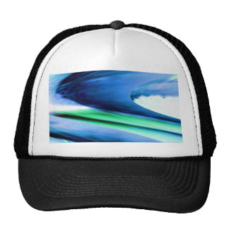 BLUE Spectrum Wave Sparkle Abstract TEMPLATE fun Hat