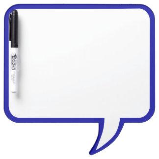 Blue Speech Bubble Wall Decor Customize This Dry Erase Board