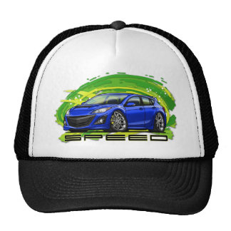 Blue_Speed3 Trucker Hat