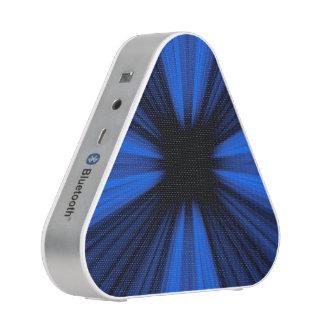 Blue speed lines explosion speaker