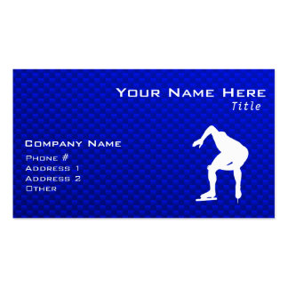 Blue Speed Skater Business Card