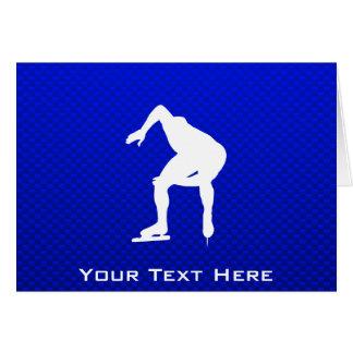 Blue Speed Skater Card