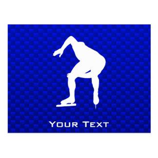 Blue Speed Skater Postcard