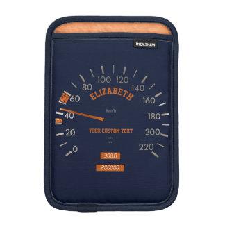 Blue Speedometer on Dashboard iPad Mini Sleeve