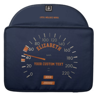 Blue Speedometer on Dashboard Macbook Sleeve