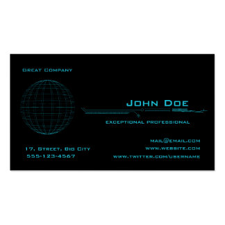 Blue Sphere Business Card Templates