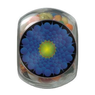 Blue Sphere Candy Jar Jelly Belly Candy Jar