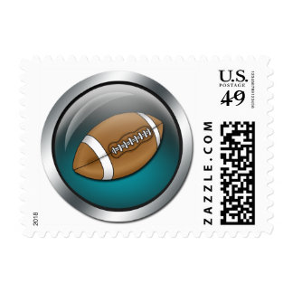 Blue Sphere - Football Postage Stamps