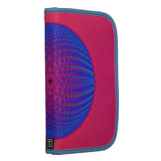 Blue Sphere on Pink Folio Planners
