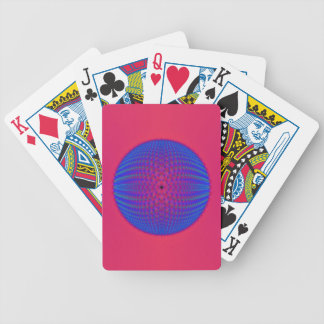Blue Sphere on Pink Playing Cards