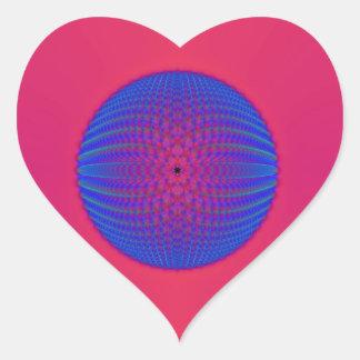 Blue Sphere on Pink Sticker