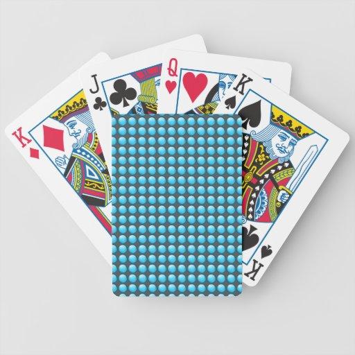 Blue Sphere Pattern Bicycle Card Decks