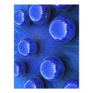 """blue_spheres_wallpaper_3d_models_3d_wallpaper_1680 folleto 8.5"""" x 11"""""""