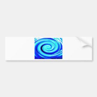 Blue Spherical Geometric Pattern Bumper Sticker
