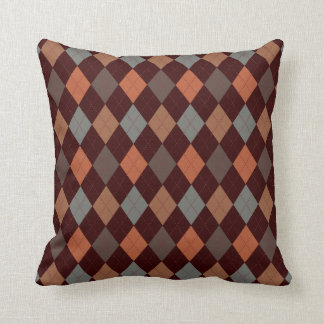 Blue & Spice Argyle Two Pattern Reversible Pillows