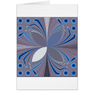 Blue spider greeting card