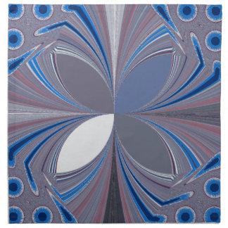 Blue spider cloth napkin