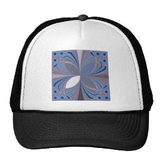 Blue spider trucker hat