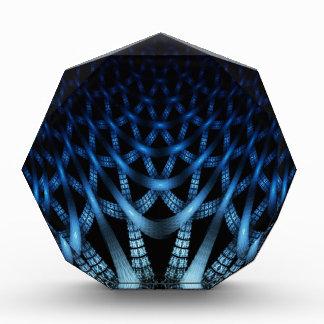 Blue spider web acrylic award