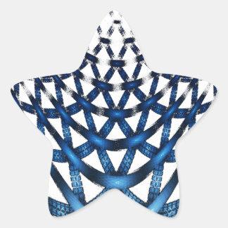 Blue Spider Web Star Sticker