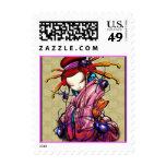 Blue Spider Women Postage Stamp