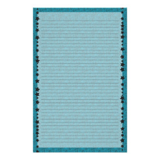 Blue Spiderweb Lined Stationery