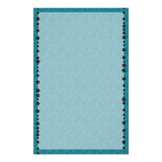 Blue Spiderweb Unlined Stationery