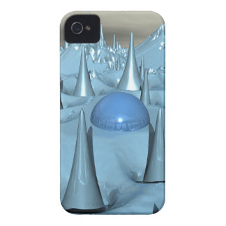 Blue Spikes Alien Terrain Case-Mate iPhone 4 Case