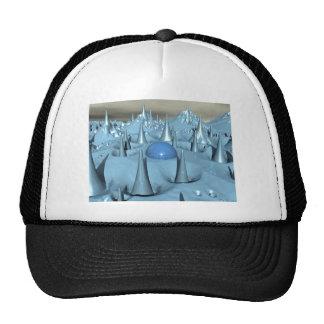 Blue Spikes Alien Terrain Trucker Hat