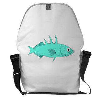 Blue Spine Fish Courier Bag
