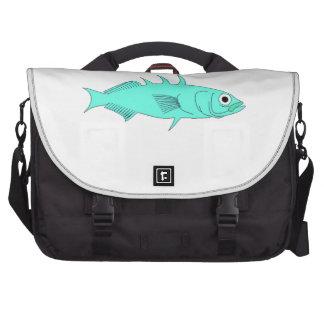Blue Spine Fish Laptop Bag