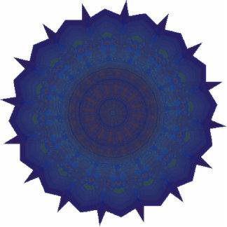 Blue Spinner Kaleidoscope Art Statuette