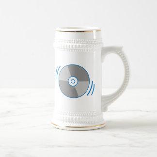 Blue Spinning CD Beer Stein