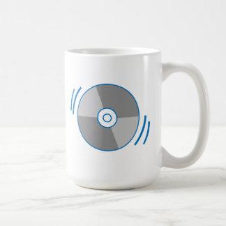 Blue Spinning CD Coffee Mug