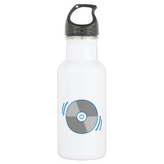 Blue Spinning CD Water Bottle
