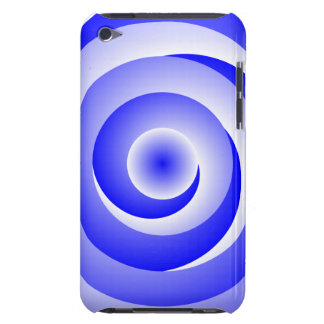 Blue Spiral Illusion Barely There iPod Case