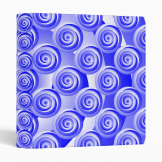 Blue Spiral Illusion Binder